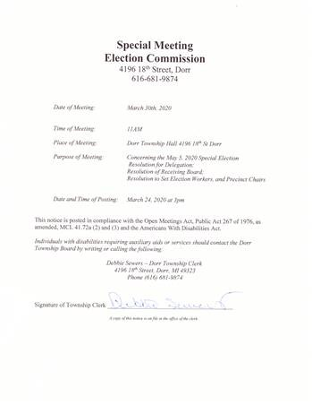3-30-2020 Election Commission Meeting